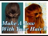Make a Bow With Your Hair! Back to School Down-Dos #5