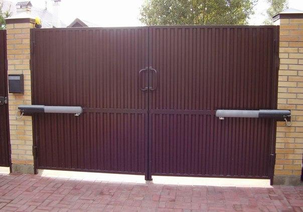 Откатные ворота или распашные