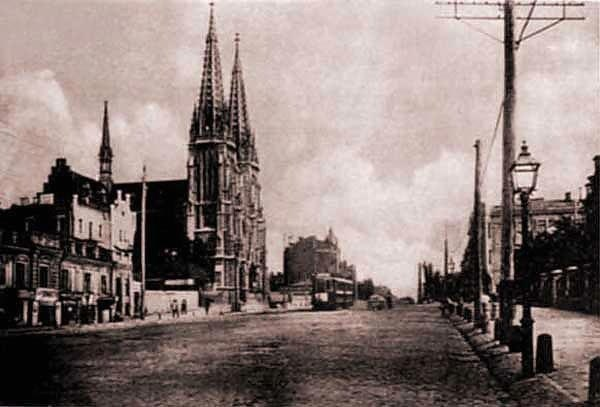 1900-е годы. Католический собор (Николаевский костел) на Большой