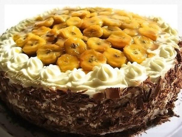 Рецепты тортов с бананами картинки