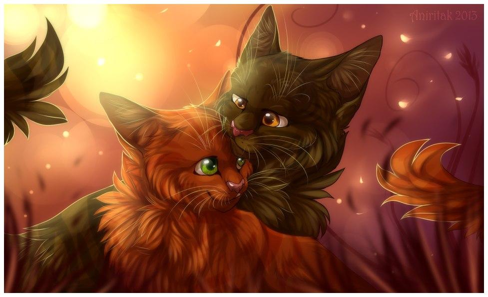 Коты воители. сайты