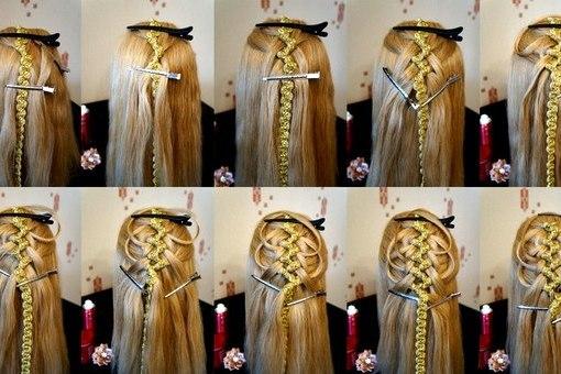 коса из 5 прядей с 2