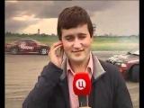Корреспондент ТВЦ в прямом эфире был сбит при дрифте