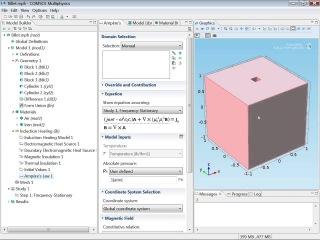 Пример расчета индукционного нагрева с движением заготовки [Inductive Heating of a Billet Simulation Tutorial]