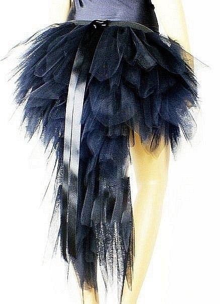Юбка с перьями из фатина