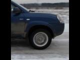 Hyundai tucson, туссан на льду, работа противобуксовочной системы на льду,