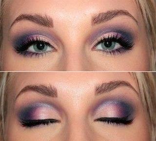 Дымчатый макияж для глаз с нависшим веко