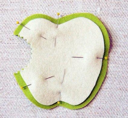Как сделать яблоко из фетра