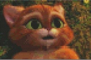 кот в сапогах из бисера, розовая пантера из бисера, тоторо из бисера, чеширский кот из бисера.