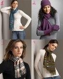 Еще одна оригинальная и актуальная идея для завязывания шарфа нынешней осенью.  Берется длинный шарф, перекручивается...