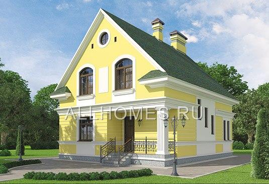 Проект кирпичного дома в стиле хай