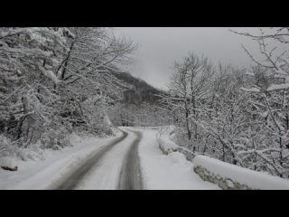 Ай-Петри Крым  сказочная дорога зимой из Соколиного