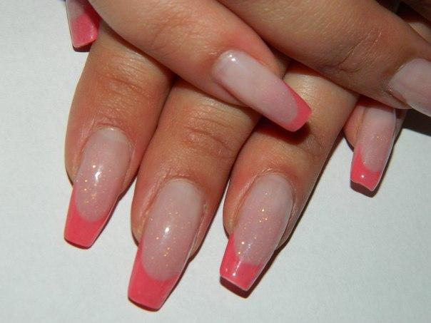 Нарощенные ногти овально квадратной формы