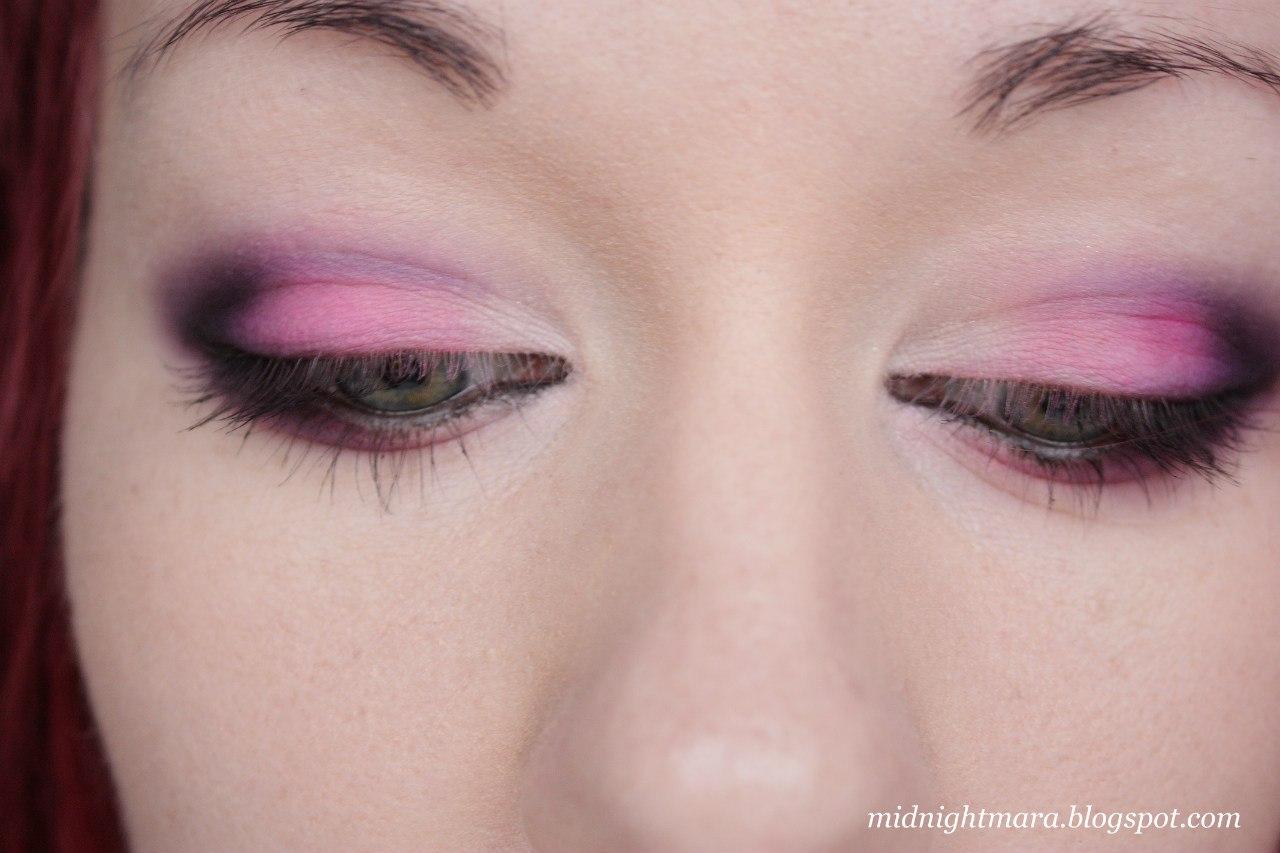Макияж розовыми тенями пошагово фото