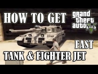 GTA 5 - How To Get A TANK or Fighter JET FAST!