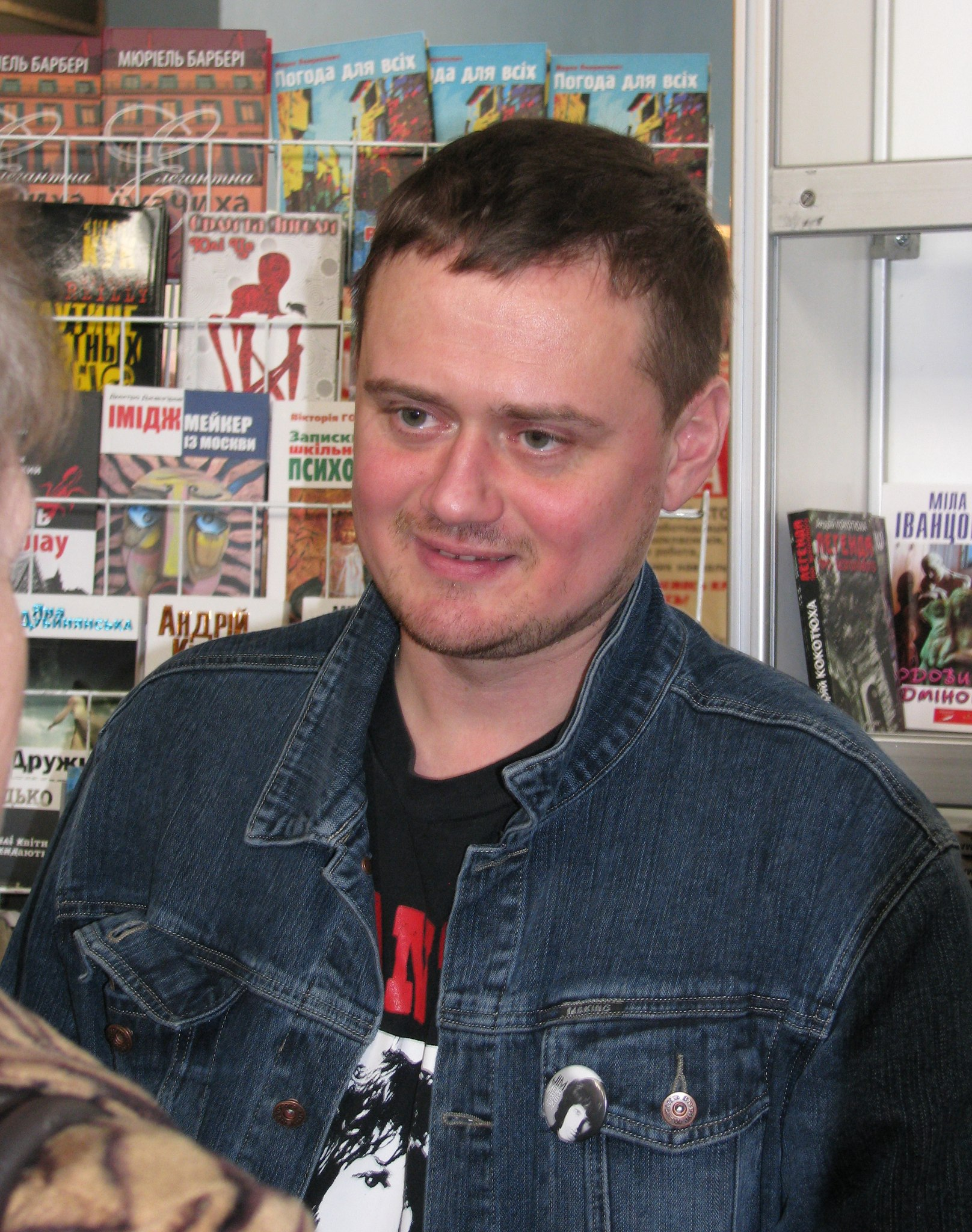 Андрей Кокотюха на презентации книги