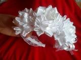 Мастер класс : Как сделать свадебный ободок канзаши kanzashi