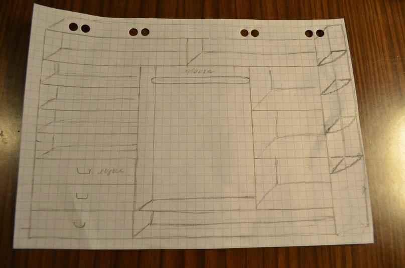 Схема шкафа-купе.