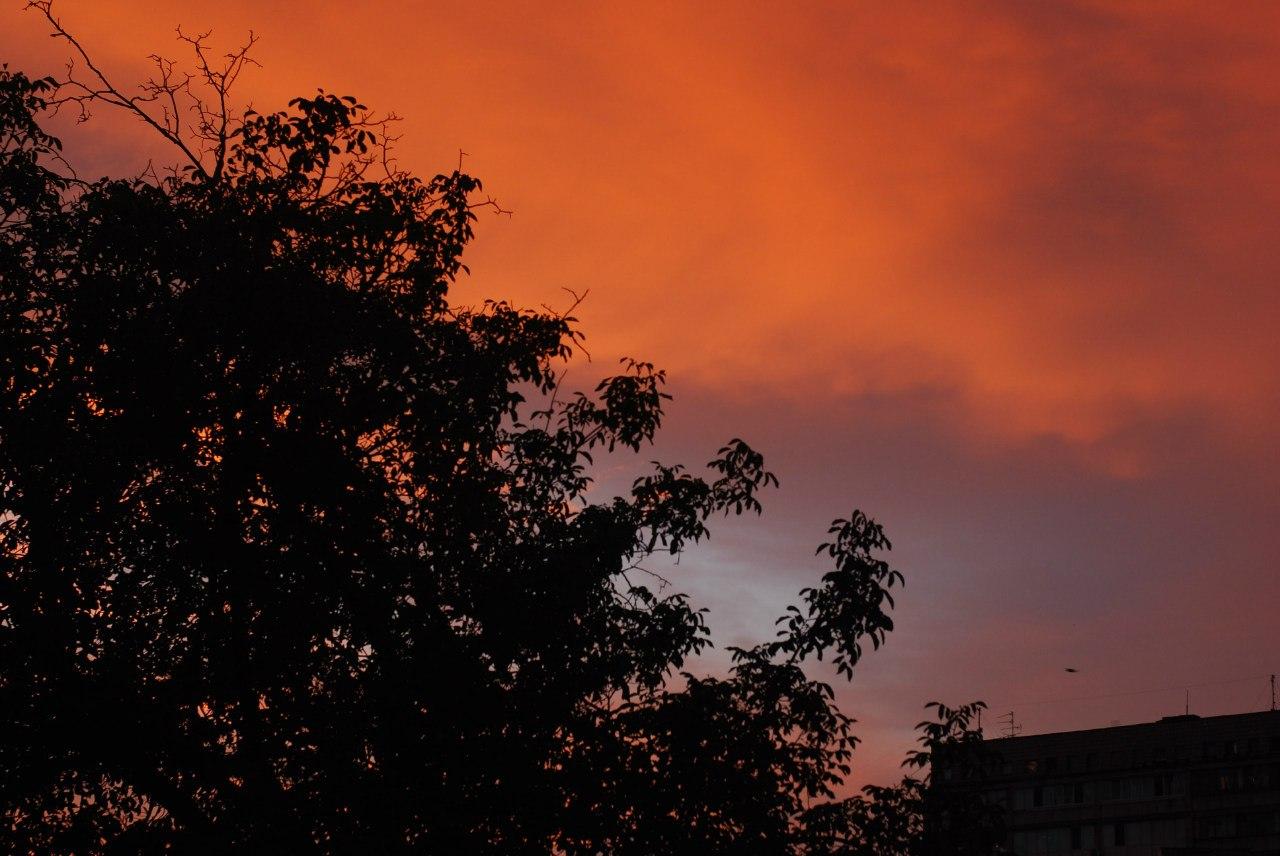 Небо, закат, Киев