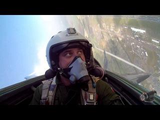 Видео из кабины пилота истребителя МИГ-29 (Incredible cockpit footage of MiG-29 at Fairford Air Tattoo RIAT)
