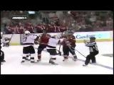 NHL Илья Ковальчук   Майк Грин ДРАКА 10 9 2010