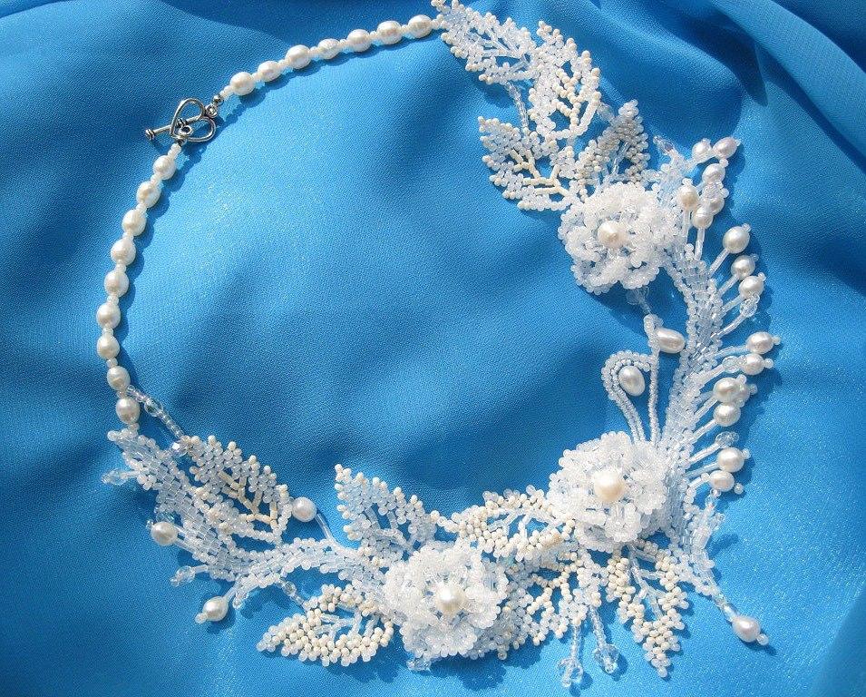 Свадебные украшения из бисера и бусин