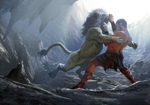 подвиг геракла со львом картинка