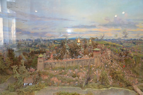 Закладка деревянной крепости в Умани