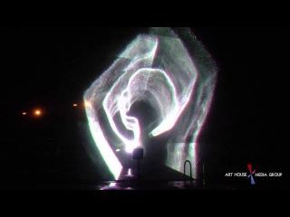 Лазерное графическое шоу на водном веерном экране (Hydro Show)