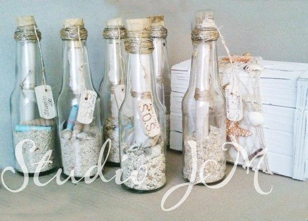 Бутылка своими руками в морском стиле