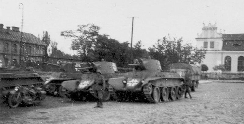 Советские танки  у вермахта