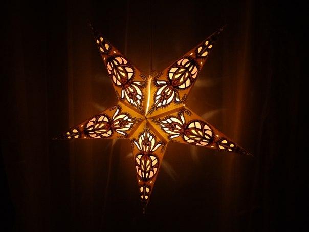 Звезда светильник своими руками 1198