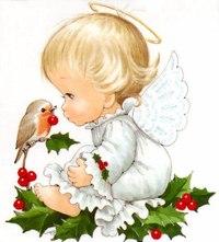 """Оригинал схемы вышивки  """"Ангелочки """".  Ангелочки, ангел, ангелы, ангелочек, ангелочки, праздник, сказка, красота..."""