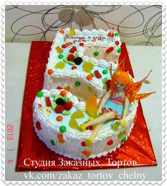 Рецепт торта в виде цифр
