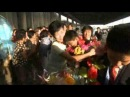 아시아청소년레스링선수권대회에 참가하였던 조선선수들 귀국