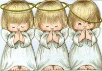 "Схема вышивки  ""Три ангелочка2 "": таблица цветов."