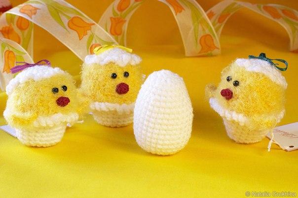 Описание вязания цыплят: