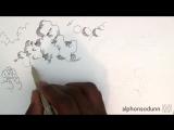 Рисуем облака, видеотуториал