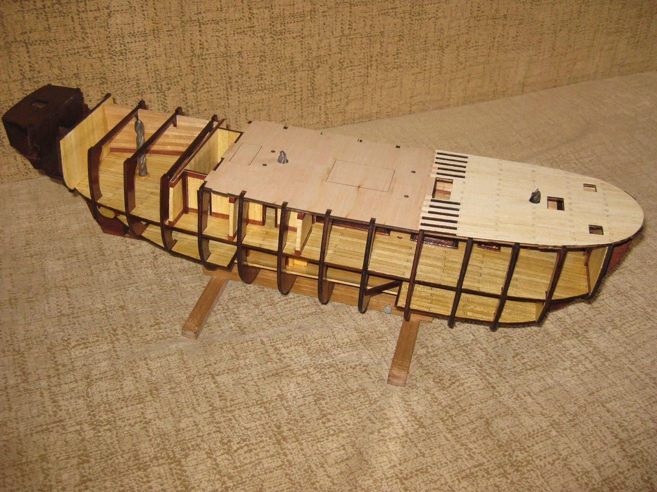 Как сделать поделку, игрушку корабль, кораблик из дерева своими руками? 42