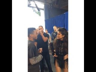 @joshleviworld: Me awkwardly standing there admiring her face.@selenagomez