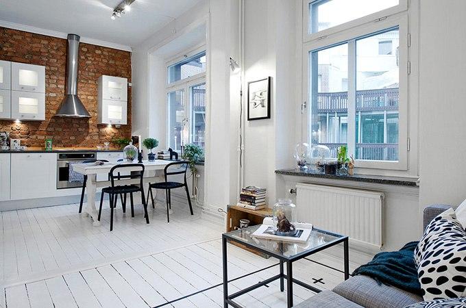 Студия 43 м из 1-комнатной квартиры в Гётеборге / Швеция - http://kvartirastudio.