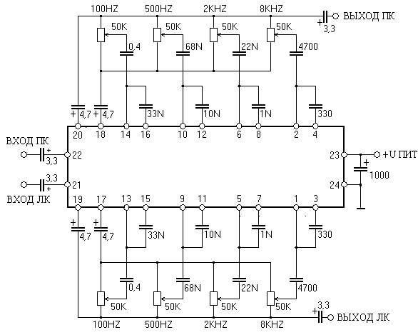 Схема эквалайзера