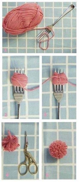 Как завязать помпон