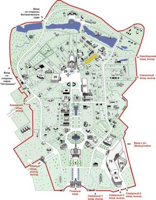 Карта ВВЦ и план проезда к