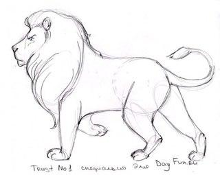 Как нарисовать льва карандашом поэтапно 5.