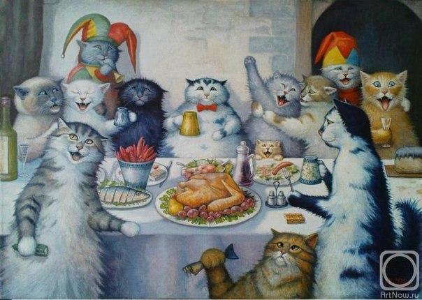 Прикольные открытки котами, звонок приглашение открытка