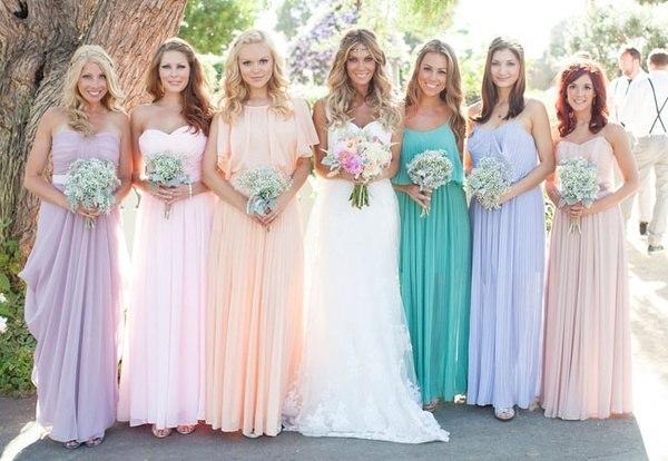 Платья для подружки невесты больших размеров
