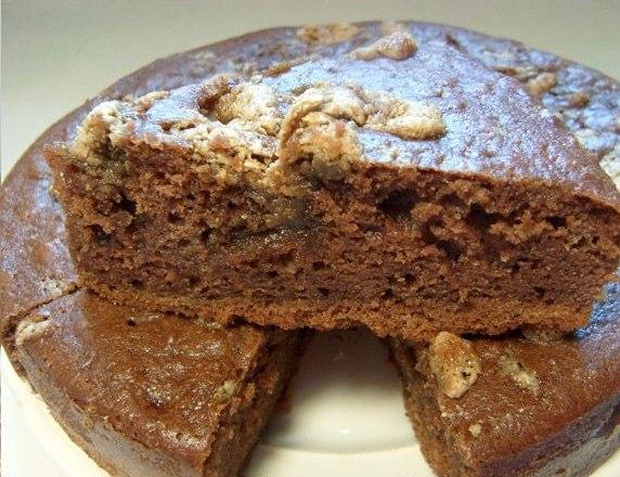 Манник шоколадный на кефире рецепт с пошагово