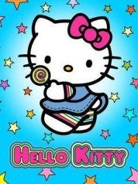 """Схема вышивки  """"Hello Kitty """": схема."""