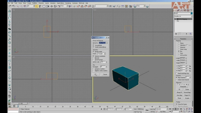 0. Импорт 3D файлов из 3ds max в PRO100